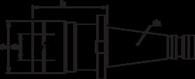 Taphouder- 81.613 - voor gebruik met tapinzetstukken' met SK-opname volgens DIN 2080