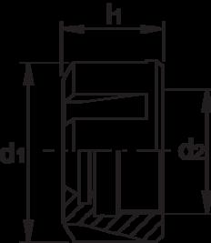 Moer voor spantanghouder- 82.960 - DIN 6499-D