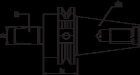Torax Boorhouderstift, ISO volgens DIN 69871, B-opname DIN 238