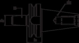 Boorhouderstift- 84.176 - DIN 238' met BT-opname volgens MAS 403-BT en met B-opname DIN 238' oppervlaktegehard HRc 58±2