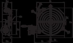 Rondverdeeltafel- 87.110 - horizontale/verticale uitvoering