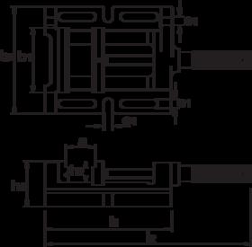 Boorklem- 88.154 - met vlakke vaste bek en bewegende bek