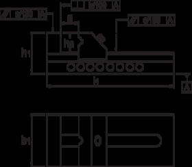 Slijpklem- 88.350 - klasse 1' geschikt voor precisie slijp-' frees- en meetwerk' bewegende bek uitgevoerd met horizontaal en verticaal prisma