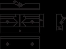 Opzetbek- 88.318 - elk stel bestaat uit een vlakke bek en een bek met horizontaal en verticaal prisma