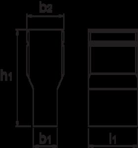 T-gleufsteen- 88.615 - DIN 6323' voor het uitrichten van machineklemmen' mallen e.d.' in de T-gleuf van het machinebed