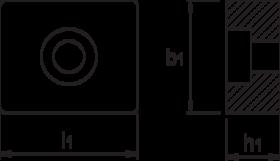 T-gleufsteen- 88.617 - DIN 6322-B