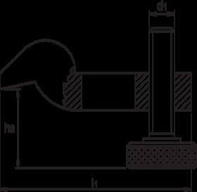 Spanijzer, verstelbaar, Type 6316-T