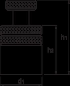 Vijzel- 88.800 - Type 6400' uit veredeld staal' gelakt' centreergatdiam. 12 mm (vanaf grootte 2)