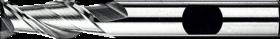 Spiebaanfrees met middellange snijlengte- 32.320 - DIN 844-K' cil. schacht met opspanvlak type Weldon (DIN 1835-B)' spiraalhoek 42°' voor het bewerken van aluminium' uit M42-staal