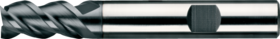 Universeelfrees met middellange snijlengte- 33.544 - DIN 6527-L' cil. schacht met opspanvlak type Weldon (DIN 6535-HB)' spiraalhoek 45°' voor algemeen gebruik