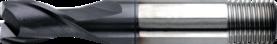 Spiebaanfrees met middellange snijlengte- 32.204 - DIN 327' cil. schacht met aantrekdraad' uit M42-staal