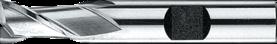 Spiebaanfrees met middellange snijlengte- 32.220 - DIN 327' cil. schacht met opspanvlak type Weldon (DIN 1835-B)' uit M42-staal