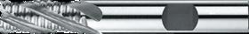 Ruwfrees met middellange snijlengte- 35.120 - DIN 844-K' centrumsnijdend t/m 25 mm' cil. schacht met opspanvlak type Weldon (DIN 1835-B)' met ronde tand' uit M42-staal