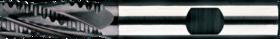 Ruwfrees met middellange snijlengte- 35.124 - DIN 844-K' centrumsnijdend t/m 25 mm' cil. schacht met opspanvlak type Weldon (DIN 1835-B)' met ronde tand' uit M42-staal