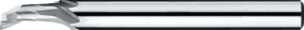 Eensnijder- 36.100 - type W' gladde cil. schacht' voor Aluminium en PVC' voor gebruik op kopieerfreesmachines