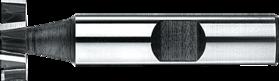 Schijfspiefrees- 36.510 - DIN 850-D' cil. schacht met opspanvlak type Weldon (DIN 1835-B)