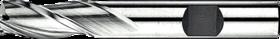 Universeelfrees met middellange snijlengte- 33.220 - DIN 844-K' cil. schacht met opspanvlak type Weldon (DIN 1835-B)' uit M42-staal