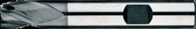 Universeelfrees met korte snijlengte- 33.244 - DIN 6527-K' cil. schacht met opspanvlak type Weldon (DIN 6535-HB)