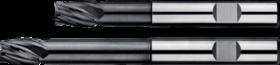 Vingerfrees met middellange snijlengte- 34.267 - Micro-Grain VolHardMetaal' met ongelijke tandverdeling' cil. schacht met opspanvlak type Weldon (DIN 6535-HB)