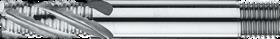 Ruwfrees met middellange snijlengte- 35.100 - DIN 844-K' centrumsnijdend t/m 25 mm' cil. schacht met aantrekdraad' met ronde tand' uit M42-staal