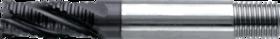 Ruwfrees met middellange snijlengte- 35.104 - DIN 844-K' centrumsnijdend t/m 25 mm' cil. schacht met aantrekdraad' met ronde tand' uit M42-staal