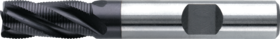 Ruwfrees met middellange snijlengte- 35.324 - DIN 844-K' centrumsnijdend' cil. schacht met opspanvlak type Weldon (DIN 1835-B)' met extra-fijn-ronde tand' uit M42-staal