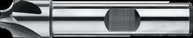 Radiusfrees met middellange snijlengte- 36.410 - DIN 6518-B' Kwarthol frees' cil. schacht met opspanvlak type Weldon (DIN 1835-B)' uit M42-staal