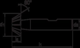 Duivenstaartfrees- 36.750 - DIN 1833-D' cil. schacht met opspanvlak type Weldon (DIN 1835-B)