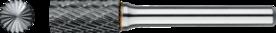 Stiftfrees cilindrisch- 41.520 - met stalen schacht