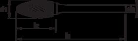 Stiftfrees vlamvorm- 41.580 - met stalen schacht