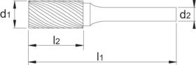 Stiftfrees cilindrisch- 41.513 - cilindrisch model zonder kopvertanding' met stalen schacht
