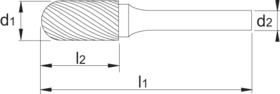 Stiftfrees cilindrisch- 41.531 - cilindrisch' ronde kop' met stalen schacht
