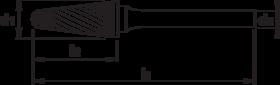 Stiftfrees kegelvorm- 41.629 - met stalen schacht