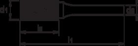Stiftfrees cilindrisch- 41.518 - cilindrisch model zonder kopvertanding' met stalen schacht