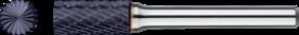 Stiftfrees cilindrisch- 41.521 - met stalen schacht