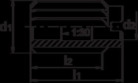 Opsteekruimer- 51.650 - DIN 219-B' spiraalgroeven