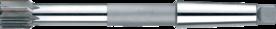 Machineruimer nastelbaar- 51.645 - ~DIN 8051' overeenkomstig DIN 8051' con. schacht' met HM-snijkant' rechte groeven' d.m.v. kopschroef 1% van de diameter verstelbaar