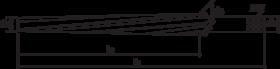 Handruimer- 51.770 - cil. schacht' spiraalgroeven' hoek 5°42'' voor handgebruik