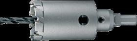 Gatfrees- 61.680 - voor snijdiepte tot 50 mm' met vaste houder' voor materiaaldikte tot 15 mm resp. 25 mm bij gebruik op hand- resp. kolomboormachine