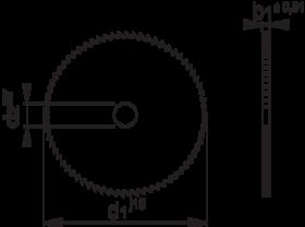 Metaalcirkelzaagblad VHM- 63.270 - DIN 1838-B' tandvorm A (rechte tand)