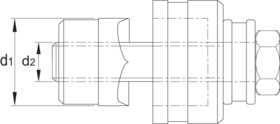 Gatenpons- 67.100 - compleet met standaard trekbout of met kogellagerbout' voor gebruik in staal (St37) en kunststof t/m 2 mm (met trekbout 9'5 mm)' t/m 3 mm (met trekbout 19 mm)
