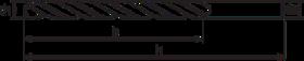 Spiraalboor standaard DIN 338- 11.415 - met afgedraaide cil. schacht' met drie platte vlakken' met kruisaanslijping' tophoek 135°