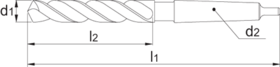HSS - Spiraalboor - P.T. - radiaal koelwater invoer - 12.860