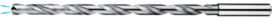 Spiraalboor volhardmetaal extra lang DIN 1869- 11.305 - voor boordiepte 10xD' met cil. schacht volgens DIN 6535-HA' PHD-aanslijping' tophoek 140°