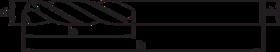 Spiraalboor volhardmetaal kort DIN 1897- 11.204 - DIN 6539' cil. schacht' korte uitvoering' met meervlaks-kruisaanslijping' tophoek 118°