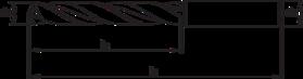 Spiraalboor volhardmetaal standaard DIN 338- 11.270 - DIN 6537-L' voor boordiepte 5xD' met cil. schacht volgens DIN 6535-HA' PHD-aanslijping' tophoek 140°