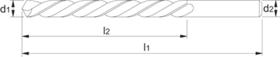 HSS - Spiraalboor - P.T .- DIN 338 - 8xD - 19.914 - Links
